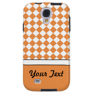 Kundengerechter Namenspfirsich-orange weißer Galaxy S4 Hülle