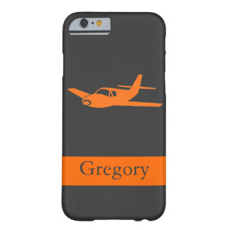 Kundengerechter orange grauer Flugzeug iPhone 6 Barely There iPhone 6 Hülle