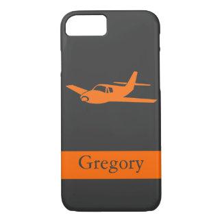 Kundengerechter orange grauer Flugzeug iPhone 7 iPhone 8/7 Hülle