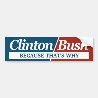 Kundengerechter Parodie-Autoaufkleber Clintons Bus Autoaufkleber