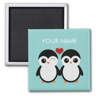 Kundengerechter Pinguinpaarmagnet Quadratischer Magnet
