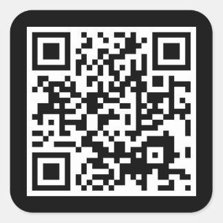 kundengerechter QR Code Quadrat-Aufkleber