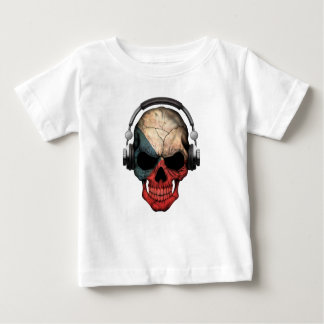 Kundengerechter Schädel Tschechen DJ mit Baby T-shirt