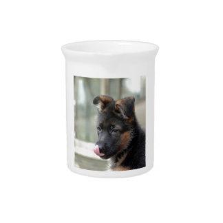 Kundengerechter Schäferhund-Hund Getränke Pitcher