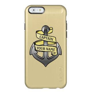 Kundengerechter Schiffs-Kapitän Ihr Namensanker Incipio Feather® Shine iPhone 6 Hülle