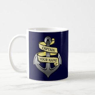 Kundengerechter Schiffs-Kapitän Ihr Namensanker Kaffeetasse