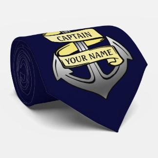 Kundengerechter Schiffs-Kapitän Ihr Namensanker Krawatte