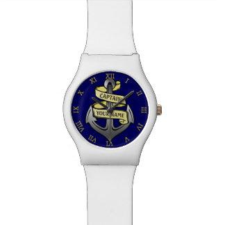 Kundengerechter Schiffs-Kapitän Ihr Namensanker Uhr