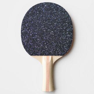 Kundengerechter schwarzer Glitter-Hintergrund Tischtennis Schläger