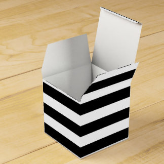 Kundengerechter schwarzer u. weißer gestreifter geschenkschachtel
