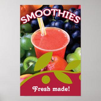 Kundengerechter Smoothie-Plakat-Entwurf Poster
