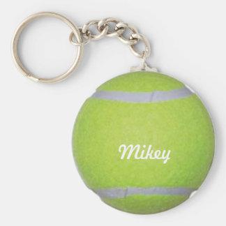 Kundengerechter Tennisball Standard Runder Schlüsselanhänger