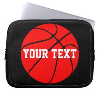 Kundengerechter Text-rote Basketball-Laptop-Hülse Laptopschutzhülle