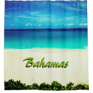 Kundengerechter tropischer Strand-Duschvorhang Duschvorhang