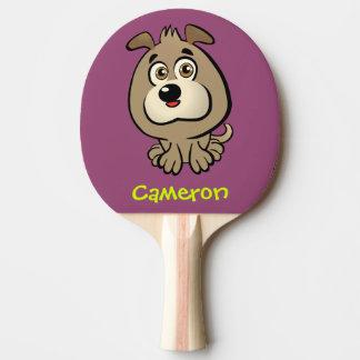 Kundengerechter Welpen-Cartoon Tischtennis Schläger