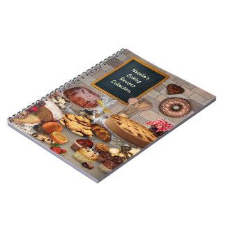 (Kundengerechtes) Backen-Rezept-Notizbuch Spiral Notizblock