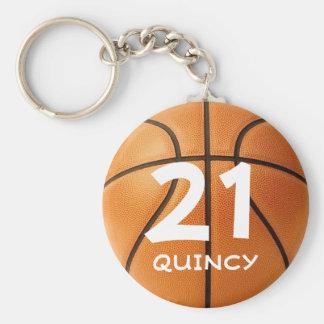 Kundengerechtes Basketball keychain Standard Runder Schlüsselanhänger