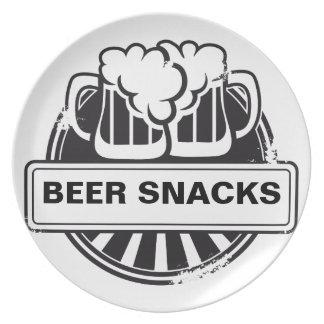 Kundengerechtes Bierlogo Teller