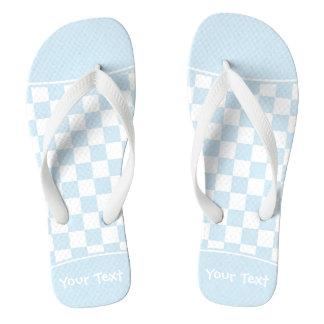 Kundengerechtes blaues und weißes flip flops