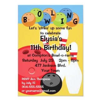Kundengerechtes Bowlings-Geburtstags-Party 12,7 X 17,8 Cm Einladungskarte