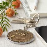 Kundengerechtes Brautjungfern-Andenken Keychain Schlüsselband