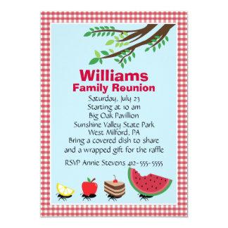 Kundengerechtes Familien-Wiedersehen-Picknick 12,7 X 17,8 Cm Einladungskarte