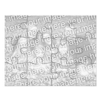 Kundengerechtes Foto- Spott- Puzzlespiel Card-12 Einladung
