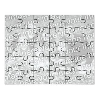 """Kundengerechtes Foto-""""Spott-"""" Puzzlespiel Card-30 10,8 X 14 Cm Einladungskarte"""