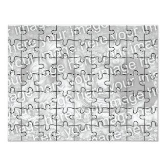 """Kundengerechtes Foto-""""Spott-"""" Puzzlespiel Card-63 10,8 X 14 Cm Einladungskarte"""