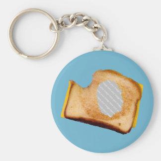 Kundengerechtes gegrilltes Käse-Sandwich Standard Runder Schlüsselanhänger