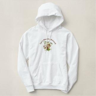 Kundengerechtes gesticktes Affe-Sweatshirt Bestickter Hoodie