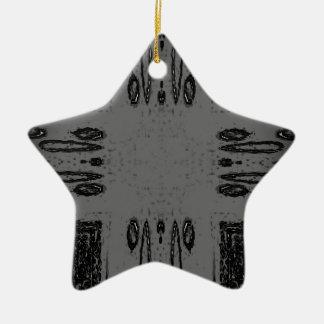 Kundengerechtes graues schwarzes Mittelgotisches Keramik Stern-Ornament