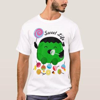 Kundengerechtes Halloween - Frankenstein und T-Shirt