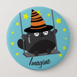 Kundengerechtes Halloween - träumerisches Runder Button 10,2 Cm