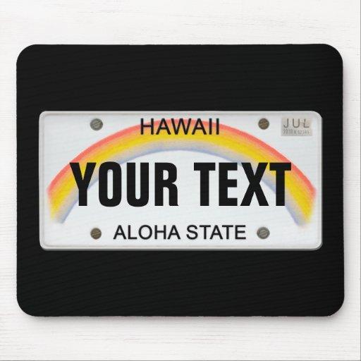 (Kundengerechtes) hawaiisches Kfz-Kennzeichen Mousepads