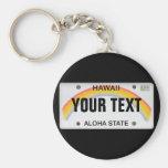 (Kundengerechtes) hawaiisches Kfz-Kennzeichen Schlüsselbänder