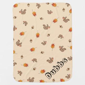 Kundengerechtes Herbst-Eichhörnchen Baby-Decken