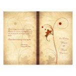Kundengerechtes Herbst-Hochzeits-Programm Flyer