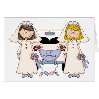 Kundengerechtes homosexuelles weibliches Wedding Grußkarte