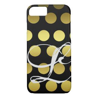 Kundengerechtes Imitat-Gold und schwarze iPhone 8/7 Hülle