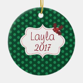 Kundengerechtes klassisches Weihnachten mit Namen Keramik Ornament