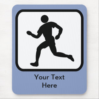 Kundengerechtes Läufer-Logo Mauspads