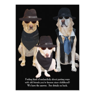 Kundengerechtes lustiges Labrador-Abschluss-Party 16,5 X 22,2 Cm Einladungskarte