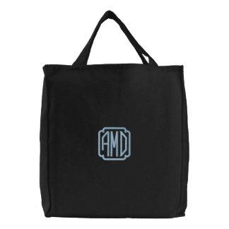 Kundengerechtes Monogramm gestickte Initialen-Tasc Bestickte Einkaufstaschen
