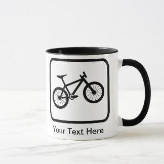 Kundengerechtes Mountainbiker-Logo Tasse
