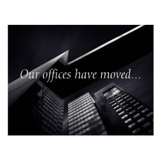 Kundengerechtes nobles schwarzes Büro-Gebäude Postkarte