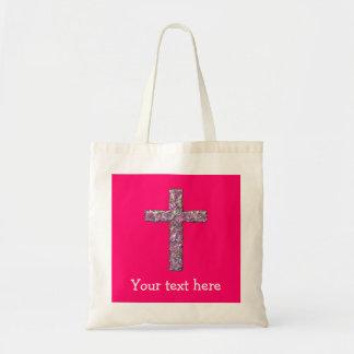 Kundengerechtes Pink-Kreuz Tragetasche