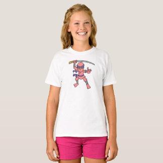 Kundengerechtes rosa Ninja T-Shirt