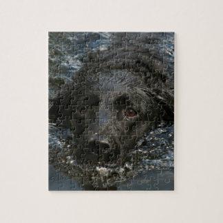 Kundengerechtes schwarzes Labrador retriever Puzzle