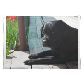 Kundengerechtes schwarzes Labrador retriever Tischset